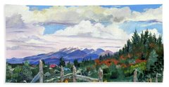 Old North Fence-in Colorado Beach Towel