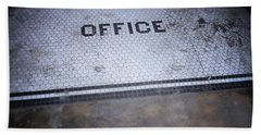 Old Office- Urban Photography By Linda Woods Beach Towel