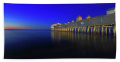 Old Orchard Beach Pier At Sunrise Beach Towel