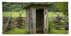 Old Outhouse On A Farm In The Smokey Mountains Beach Sheet by Randall Nyhof