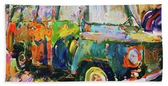 Old Paint Car Beach Towel