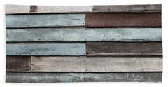 Old Pale Wood Wall Beach Towel by Jingjits Photography