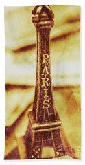 Old Paris Decor Beach Sheet by Jorgo Photography - Wall Art Gallery