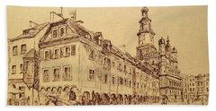 Old Poznan Drawing Beach Sheet