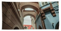 Beach Towel featuring the photograph Old Prague Architecture 1 by Jenny Rainbow