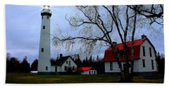Old Presque Isle Lighthouse Beach Towel