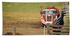 Old Pump Truck Beach Sheet