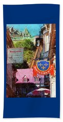 Old Quebec City Funicular Beach Sheet