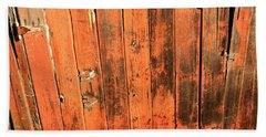 Old Red Fence Beach Towel