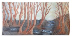 Old Road Through The Trees Beach Towel