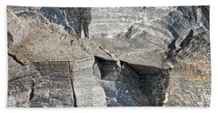 Old Rock Background Beach Towel