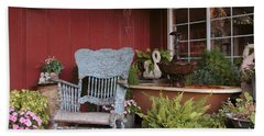 Beach Towel featuring the photograph Old Rockin' Chair by Susan Rissi Tregoning