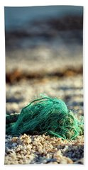 Old Rope By The Beach Beach Towel