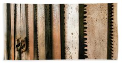 Retired Rusted Saws Beach Sheet by Lexa Harpell