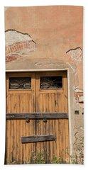 Old Rustic Italian Door Beach Towel