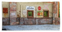 Old Saloon Wall Beach Towel