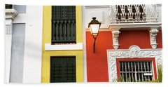 Old San Juan Homes Beach Sheet by The Art of Alice Terrill