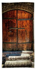 Old Savannah Warehouse Door Beach Towel