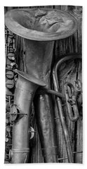 Old Sax And Tuba Beach Towel by Garry Gay