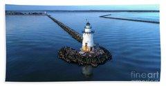Old Saybrook Outer Lighthouse Beach Towel