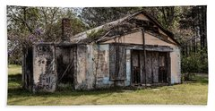 Beach Sheet featuring the photograph Old Shack by Kim Hojnacki