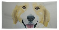 Beach Towel featuring the painting Old Shep by Norm Starks