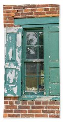 Old Shuttered Door Beach Sheet