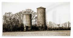 Old Silos Beach Sheet by Barry Jones