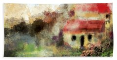 Old Spanish Village Beach Towel by Jessica Wright