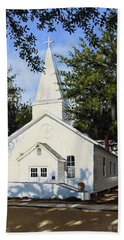 Beach Sheet featuring the painting Old St. Andrew Church by Rick McKinney