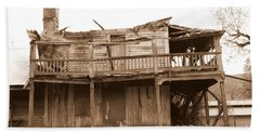 Old Stagecoach Stop Beach Sheet by Marie Neder