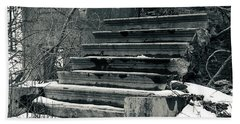Old Stairs To Nowhere Beach Sheet by Jeff Severson