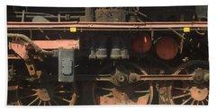 Old  Steam Train ...france Beach Towel