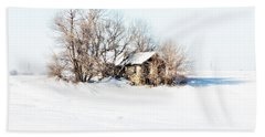 Old  Stone House Milford Beach Towel by Julie Hamilton