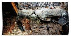 Old Threshold Paint Beach Towel by Deborah Nakano