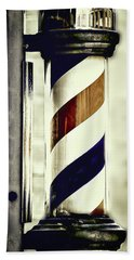 Beach Towel featuring the photograph Old Time Barber Pole by Donna Lee