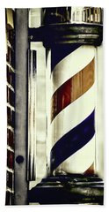 Old Time Barber Pole Beach Towel