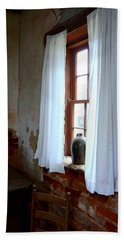 Old Time Window Beach Towel