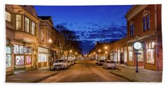 Old Town Evening Beach Towel by Greg Nyquist