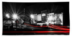 Old Town Helena At Night Beach Towel by Shelby  Young