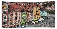 Old Town In Warsaw #20 Beach Sheet
