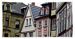 Old Town Mainz Beach Towel by Sarah Loft