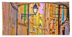 Old Town Nizza, Southern France Beach Towel