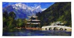 Old Town Of Lijiang Beach Sheet