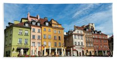 Beach Towel featuring the photograph Old Town Warsaw by Chevy Fleet