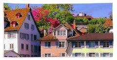 Old Town Zurich, Switzerland Beach Towel
