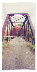Beach Towel featuring the photograph Old Train Bridge Newport New Hampshire by Edward Fielding