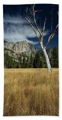 Old Tree Inyosemite Valley Beach Towel