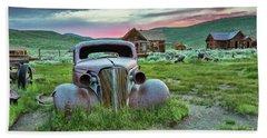 Old Truck In Bodie Beach Sheet