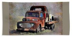 Beach Towel featuring the photograph Old Trucks by Savannah Gibbs